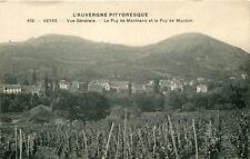 Carte VEYRE MONTON Vue générale Le Puy de Marmand et le Puy de Monton La vigne