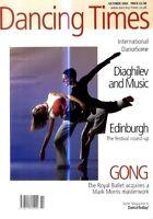 DANCING TIMES MAGAZINE 2002 OCT MARIA NIKOLOULEA MARTIN LAWRANCE STEVEN MONT