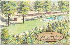 Crossroads Motel in Statesboro GA Artist Walter Bowers Postcard