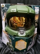 Adult Men XXL HALO Master Chief Deluxe Muscle Jumpsuit and Deluxe Full Helmet