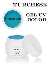 Gel UV Color TURCHESE 5 ml per la Ricostruzione Unghie Alta Qualità NDED