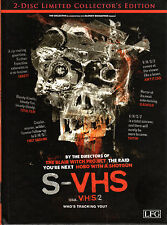 S-VHS aka.V/H/S/2 , Uncut , Limited Mediabook Edition - BluRay + DVD , New , A