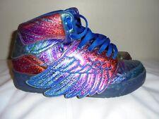 Rare Adidas Original Wings Rainbow Hologram Jeremy Scott mens shoes size 9