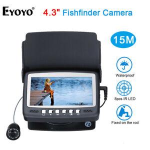 EF43A 10.9cm Farbe Monitor 15M Fisch Finder 1000TVL Unterwasser Kamera