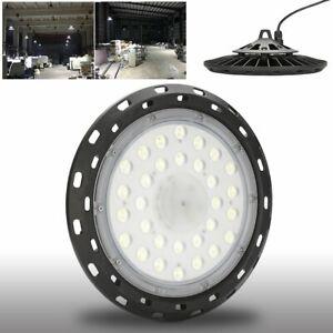 100W LED Hallenleuchte Werkstattleuchte UFO Hallenfluter Industrielampe Weiβ