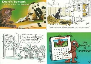 9 postcards:   DOGS & CATS- VET'S VACCINATION REMINDER CARDS
