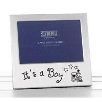 'It's a Boy' Satin silver photo frame-shudehill Giftware