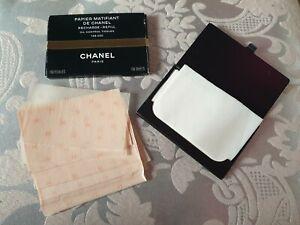 CHANEL Papier Matifiant De Chanel Oil Blotting Tissues Refill with black case