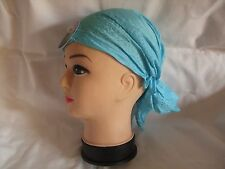 New Light Blue Sparkly Bandana/Du-Rag/Zandana/Hat  22 inch