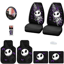 JACK SKELLINGTON 8PC NIGHTMARE BEFORE CHRISTMAS CAR SEAT COVER SET FOR NISSAN