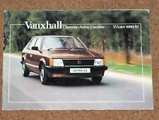 1980-81 VAUXHALL CHEVETTE ASTRA CAVALIER Sales Brochure inc Sports Hatch DTV