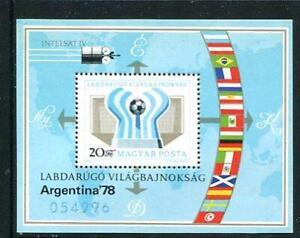 Hungary 1978 Sheet Mi Block 130a MNH Argentina World Cup Soccer Champion 10389