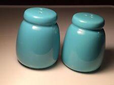 Mervyns japan turquoise ceramic  salt and pepper