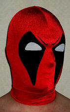 NEW Deadpool Mask spandex lycra halloween superhero costume w zentai cosplay red
