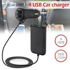 4-Port Multi USB Passenger Car Charger Front/Back Seat Adapter for iPhone GPS