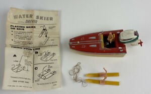 Vintage IDEAL Toy Boat Evinrude II MOTOR 1968 Toy Speed Boat Skier Driver