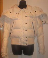 Viktor & Rolf Down Ivory Puffer Jacket Tuxedo Coat with Hood 40 10 8 6 M L NWT