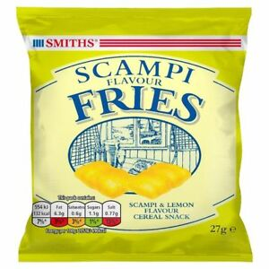 SMITHS SCAMPI SCAMPY FRIES Full Card Of 27g x 24 Packets Crisps - FRESH STOCK