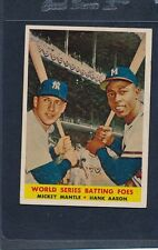 1958 Topps #418 Mickey Mantle Hank Aaron VG/EX 58T418-72416-1