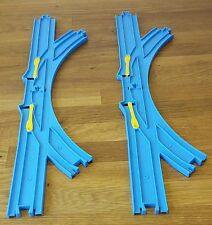4 x Points Junctions Y Track Trackmaster Tomy Train Thomas The Tank Free P&P