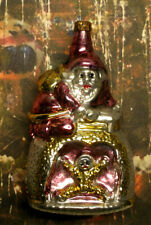 """Santa At Fireplace - """"Vintage Style"""" Ornament Blown in Lauscha, Germany"""