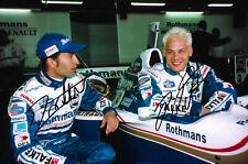 Jacques Villeneuve & Heinz Harald Frentzen Autogramme signed 20x30 cm Bild