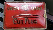 Vintage Union Leader Cut Plug Tobacco Tin Tobacciana Collectable Advertising