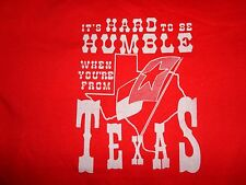 Red True Vintage Hard to be Humble When You're From Texas 50-50 T-Shirt Fits L