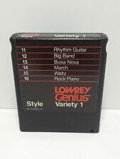 Lowrey Genius Variety Cartridge Variety 1 Rhythm, March, Waltz, Bosa Nova, Big