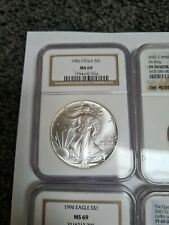 More details for 1986 eagle silver coin ngc ms69 - key date - 1986 eagle s$1