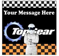 Top Gear Stig Personalised Edible Icing Cake Topper 7.5in Round/Square Precut