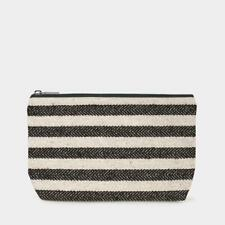 East Of India: Toiletry Bag - Thick Black Stripes