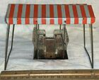 ANTIQUE RARE WEST BROS GLASS TIN LITHO SWING CANDY CONTAINER TOY GRAPEVILLE PA