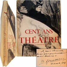 Cent ans de Théâtre par la Photographie 1947 envoi Coursaget Gauthier comédiens
