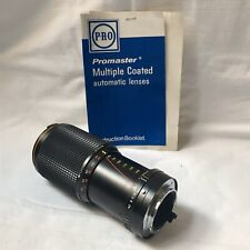 Konica AR Mount ProMaster MC Zoom 80-205mm f/4.5 Lens. Fits K/AR. & Instructions