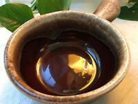 McCoy Pottery 7050 Brown Drip Chili/Soup Bowl with Handle Made in USA.