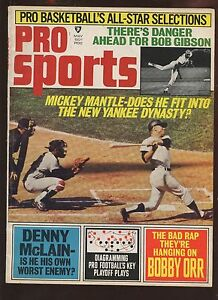May 1969 Pro Sports Magazine With Mickey Mantle Cover EX