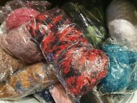 NEW WOOL & YARN JUST ARRIVED GREAT DEAL CROCHET, KNIT CRAFT 1000g 1KG NO LABELS