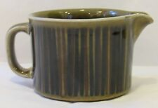 Kosmos by Arabia of Finland Creamer Brown And Black Lines Dots On Green