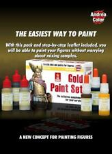 Andrea Color - ACS-08 - Gold Acrylic Paint Set - 17ml - 6 Different Shades
