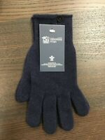 Women's Button Cashmere Gloves | Johnstons of Elgin | Made in Scotland | Navy