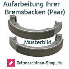 Bremsbacken (Paar) neu geklebt Triumph B 200, 204 Aufarbeitung Ihrer Bremsbacken