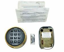 Amsec Esl10xl Deadbolt Lock With Polished Brass Keypad Missing Relocker Plate