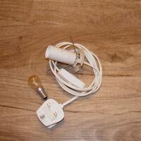 Salt Lamp Cable Lead 2x Bulbs 15watt Replacement Light W Fitting UK 3Pin Plug