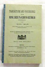 Transactions Royal Society South Australia Vol XLV [45] 1921 Natural History