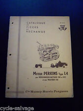 Massey Ferguson Moteur Perkins Type L4 1958 Catalogue Pieces de rechange