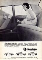 "1963 STUDEBAKER AVANTI HAWK LARK AD A3 CANVAS PRINT POSTER 16.5""x11.7"""