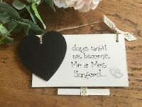 Personalised Wedding Bride To Be Countdown Plaque/Sign Engagement Gift Keepsake