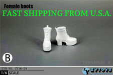 """1/6 Female Wedge Boots High Heels B For 12"""" Hot Toys Phicen Female Figure ❶USA❶"""
