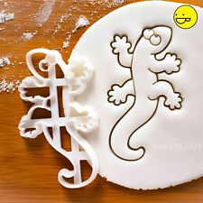 Gecko Lizard cookie cutter | halloween reptile pet lizards chameleon biscuit